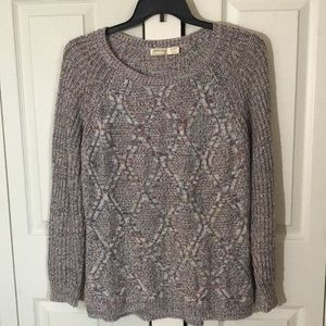 Colorful cable knit sweater XL